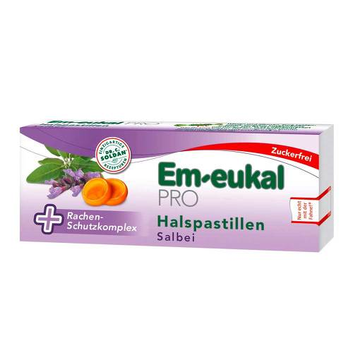Em-eukal Pro Halspastillen Salbei zuckerfrei - 1