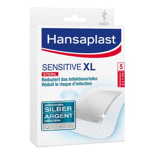 Hansaplast med sensitive XL Pflaster 6x7 cm - 1