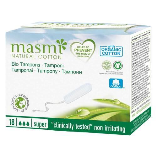 Bio Tampons Super 100% Bio Baumwolle Masmi - 1