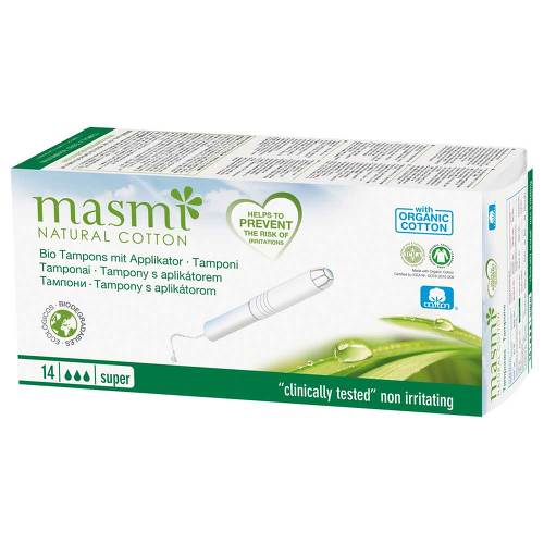Bio Tampons Super mit Applikator 100% Bio Baumwolle Masmi - 1