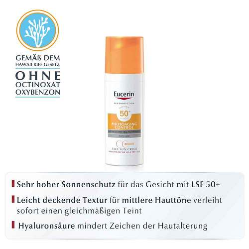 Eucerin Sun CC Creme getönt mittel LSF 50 +  - 2