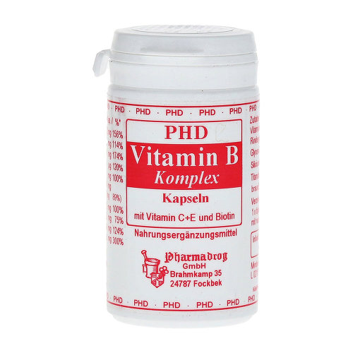 Vitamin B Komplex mit Vitamin C + E und Biotin Kapseln - 1