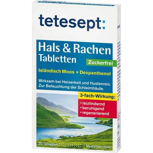 Tetesept Hals & Rachen Tabletten zuckerfrei - 1