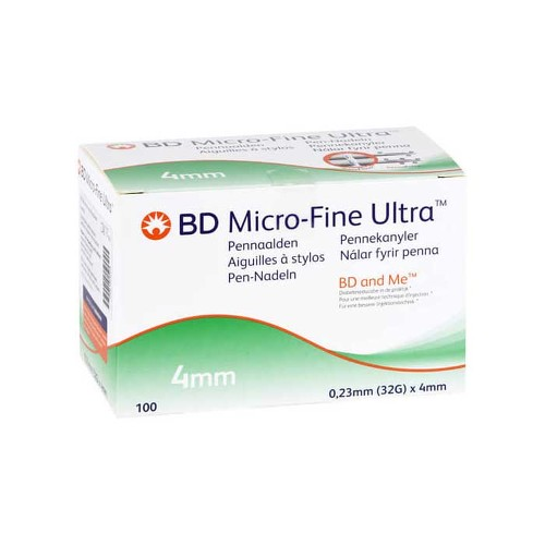 BD Micro-Fine Ultra Pen-Nadeln 0,23x4 mm - 1
