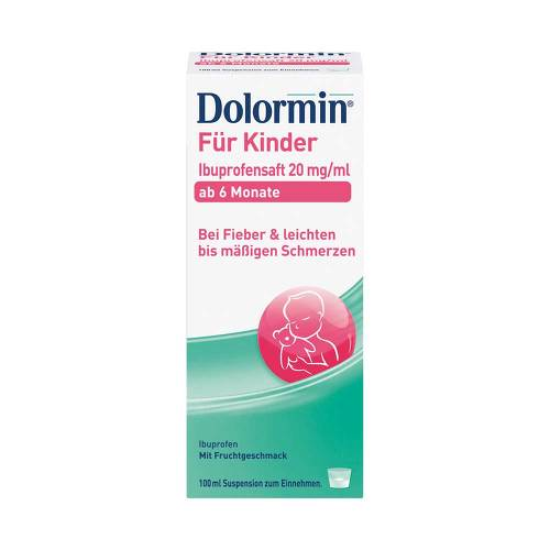 Dolormin für Kinder Ibuprofensaft 20 mg / ml Suspension  - 1