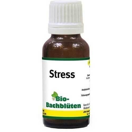 Bio Bachblüten Stress Tropfen für Hund / Katze / Pferd - 1