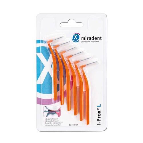 Miradent Interdentalbürste I-Prox L 0,8 mm orange - 1