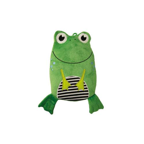 Wärmflasche Öko 0,8 l Veloursbezug Frosch - 1