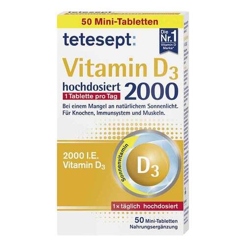 Tetesept Vitamin D3 2.000 Filmtabletten - 1