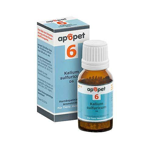 Apopet Schüßler-Salz Nr.6 Kalium sulfuricum D 6 vet. (für Tiere) - 1