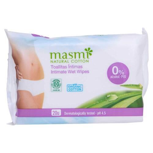 Bio Intimpflegetücher 100% Bio-Baumwolle Masmi - 1