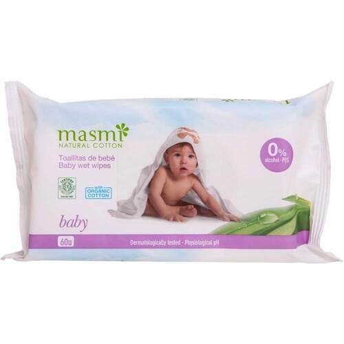 Bio Feuchttücher Baby 100% Bio-Baumwolle Masmi - 1
