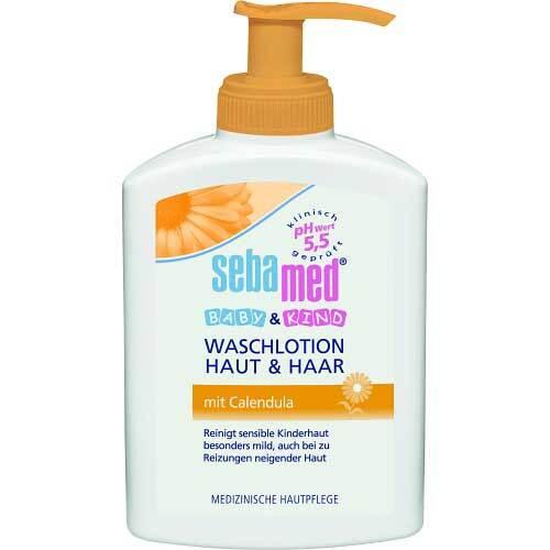 Sebamed Baby & Kind Waschlotion Haut & Haar mit Calendula - 1