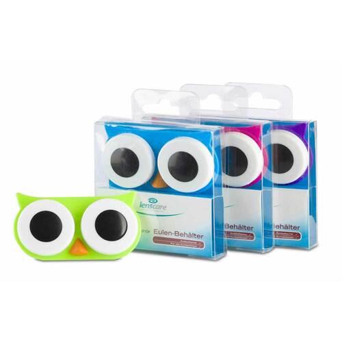 Lenscare Eulen-Kontaklinsenbehälter blau - 1
