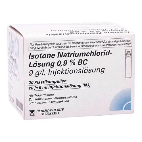 Isotone Nacl Lösung 0,9% BC Plastik Ampulle Injektionslösung  - 1