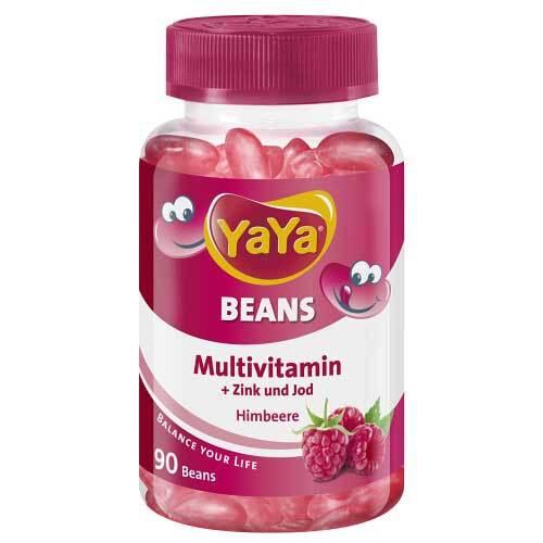 Yaya Beans Himbeere Zink und Jod Kaudragees - 1