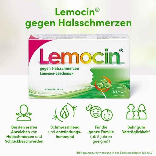 Lemocin gegen Halsschmerzen Lutschtabletten - 2