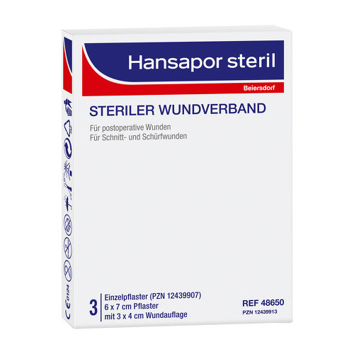 Hansapor steril Wundverband 6x7 cm - 1