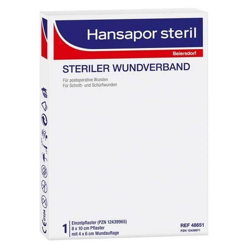 Hansapor steril Wundverband 8x10 cm - 1