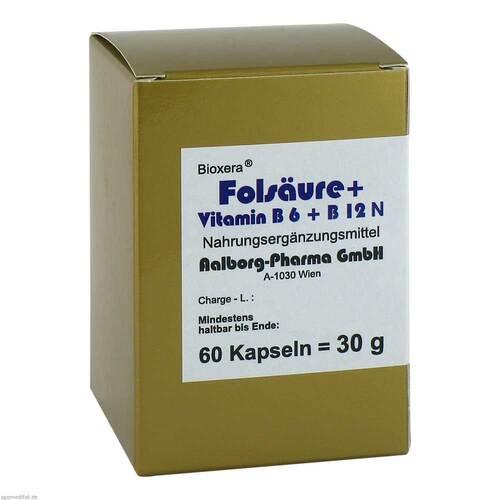 Folsäure + Vitamin B6 + B12 Komplex N Kapseln - 1