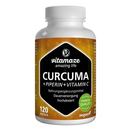 Curcuma + Piperin + Vitamin C vegan Kapseln - 1