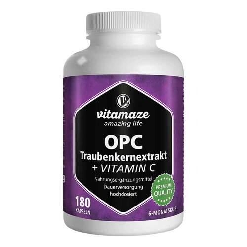 OPC Traubenkernextrakt hochdosiert + Vitamin C Kapseln - 1