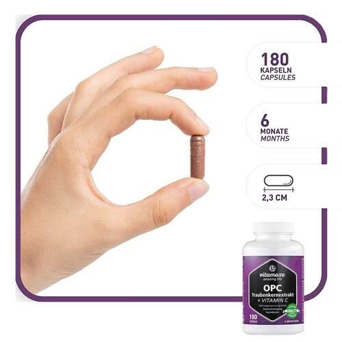 OPC Traubenkernextrakt hochdosiert + Vitamin C Kapseln - 2