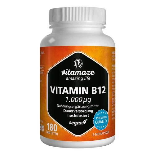 Vitamin B12 1.000 µg hochdosiert vegan Tabletten - 1