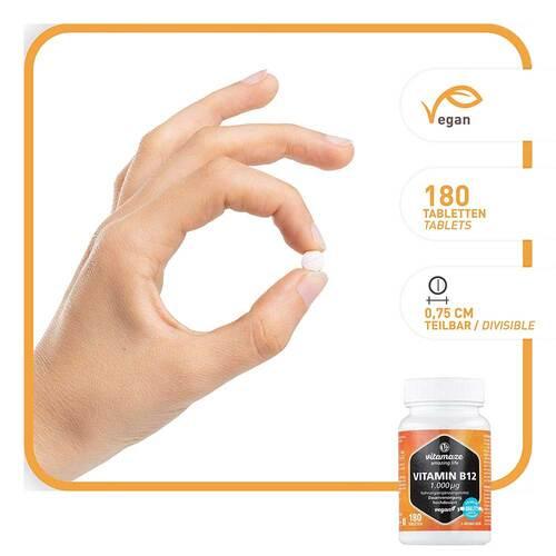 Vitamin B12 1.000 µg hochdosiert vegan Tabletten - 2
