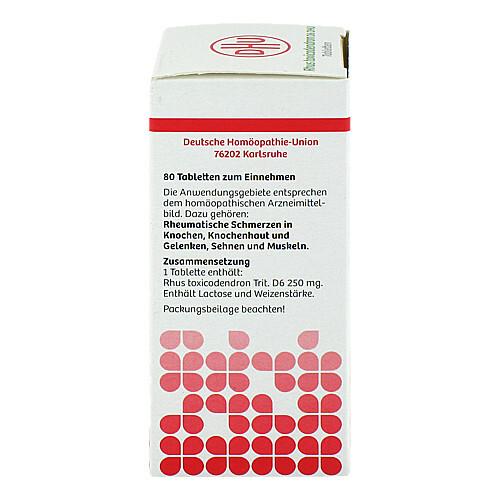 Rhus toxicodendron D6 DHU bei rheumatischen Schmerzen Tabletten  - 2