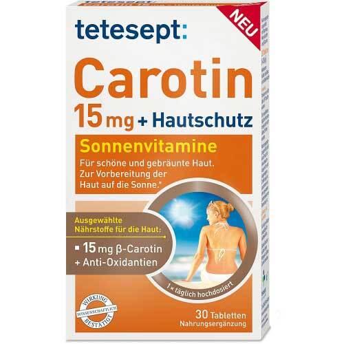 Tetesept Carotin 15 mg + Hautschutz Filmtabletten - 1