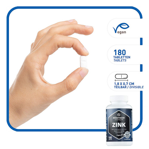 Zink 25 mg hochdosiert vegan Tabletten - 2