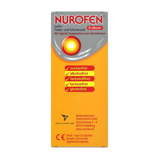 Nurofen Junior Fieber-u.Schmerzsaft Erdbe.40 mg / ml - 3
