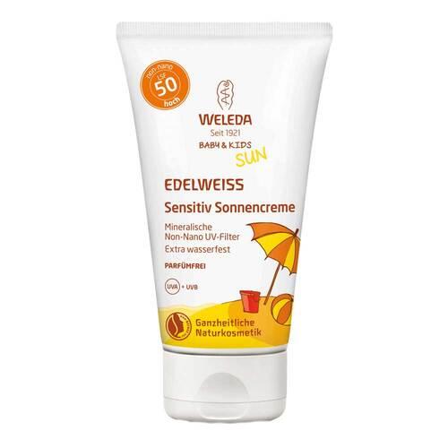 Weleda Edelweiss Sensitiv Sonnencreme LSF 50 Baby & Kids - 1