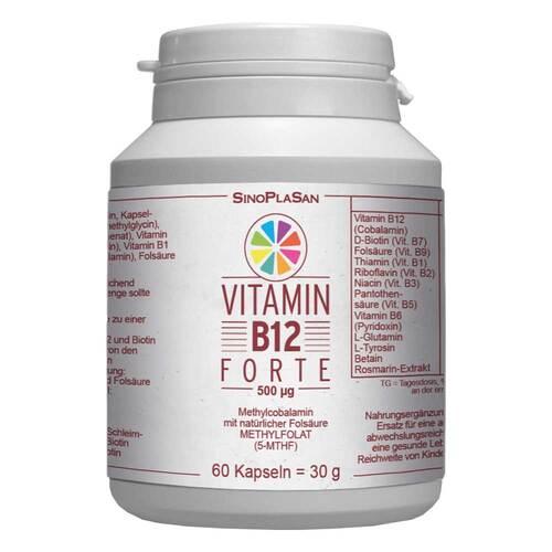 Vitamin B12 Forte 500 µg Methylcobalamin Kapseln - 1