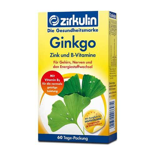 Zirkulin Ginkgo Zink und B-Vitamine Filmtabletten - 1
