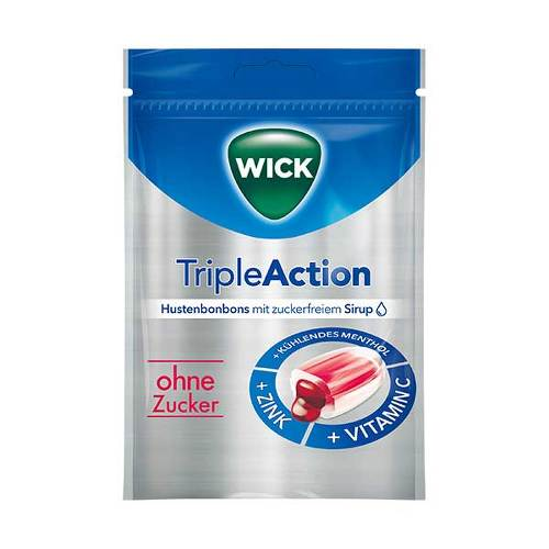 WICK Tripleaction Menthol & Cassis Bonbons ohne Zucker - 1