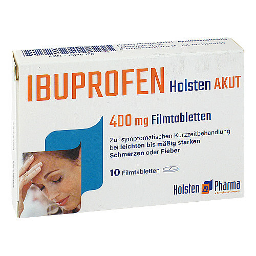 Ibuprofen Holsten akut 400 mg Filmtabletten - 1