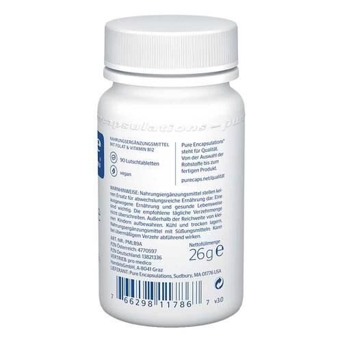 Pure Encapsulations B12 Folate melt Lutschtabletten  - 2