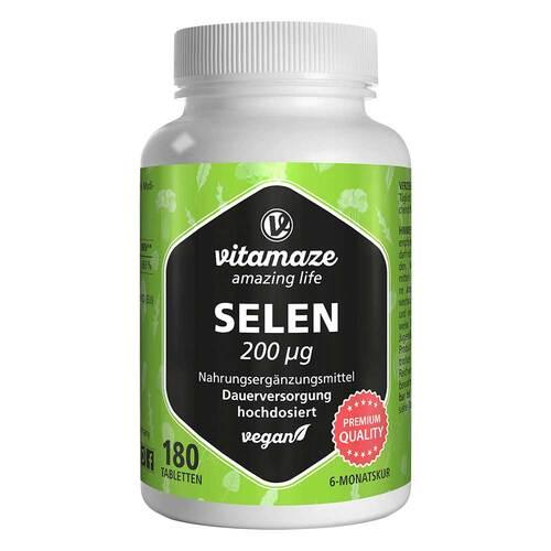 Selen 200 µg hochdosiert vegan Tabletten - 1