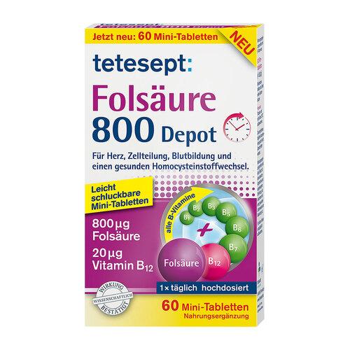 Tetesept Folsäure 800 Depot Tabletten - 1