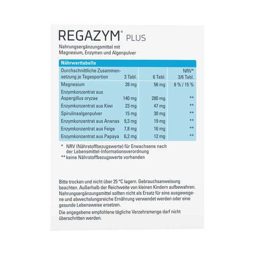 Regazym Plus Syxyl Tabletten - 3