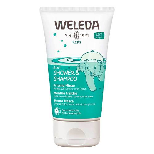 Weleda Kids 2in1 Shower & Shampoo frische Minze - 1
