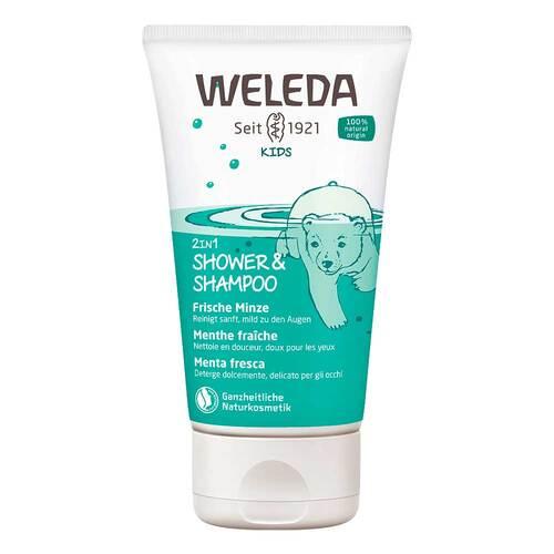 Weleda Kids 2in1 Shower & Shampoo frische Minze - 1