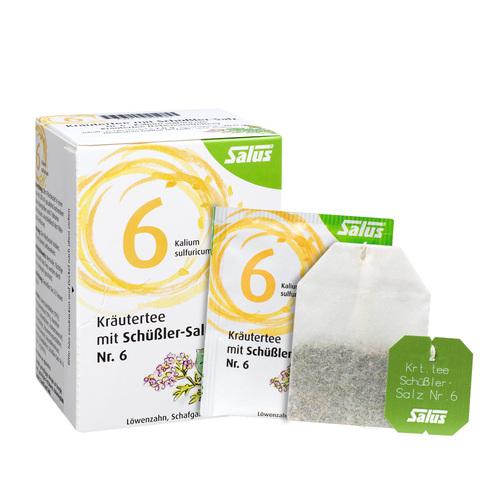 Kräutertee mit Schüssler-Salz Nr.6 Salus Fbeutel  - 1