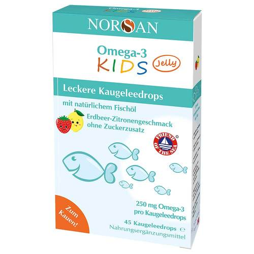 Norsan Omega-3 Kids Jelly Dragees - 1