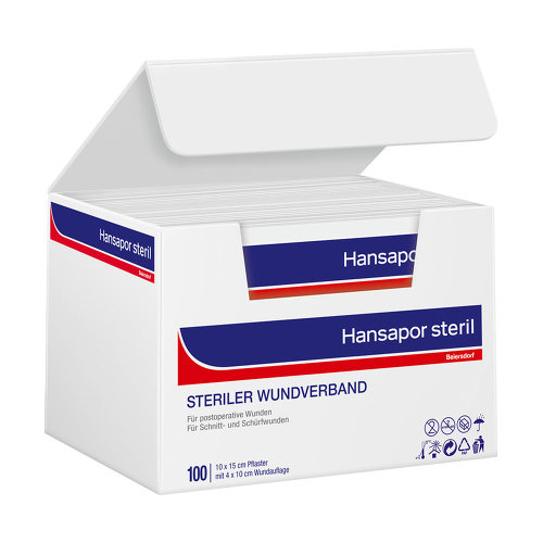Hansapor steril Wundverband 10x15 cm - 1