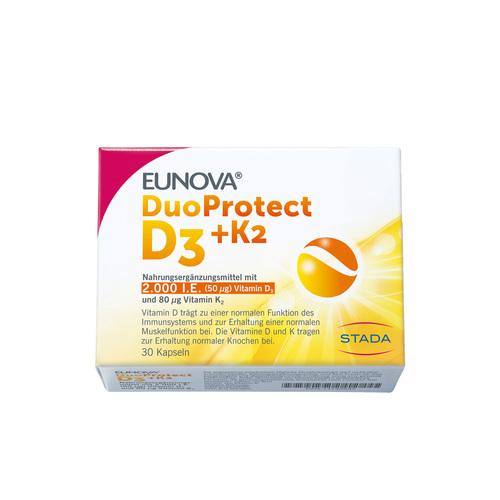Eunova Duoprotect D3 + K2 2000 I.E. / 80 µg Kapseln - 1