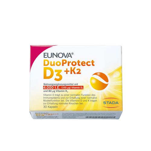Eunova Duoprotect D3 + K2 4000 I.E. / 80 µg Kapseln - 1
