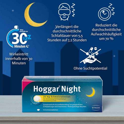Hoggar Night 25 mg Schmelztabletten - 3